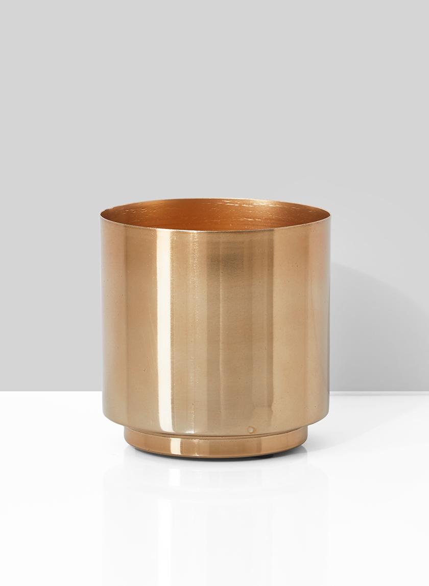 4 x 4in Gold Vase
