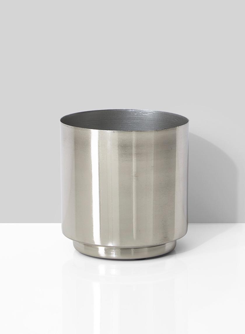 4 x 4in Silver Vase