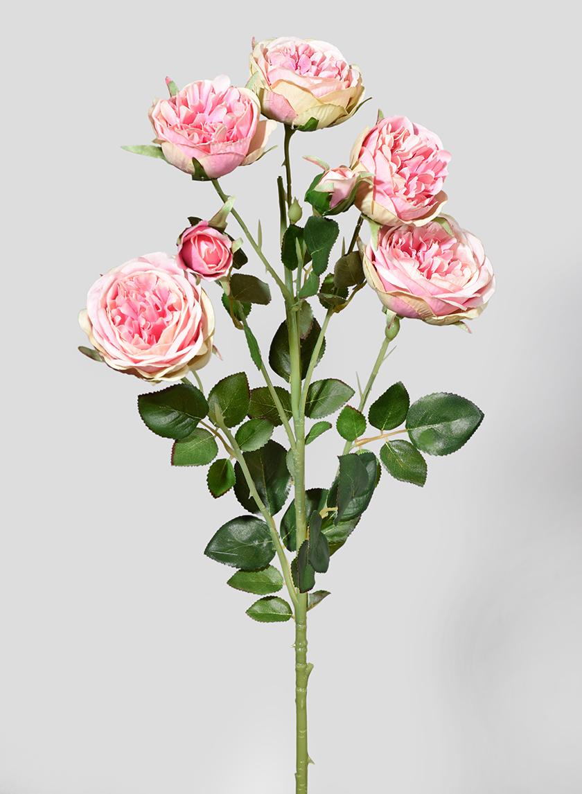 30in Blooming Pink Roses Spray