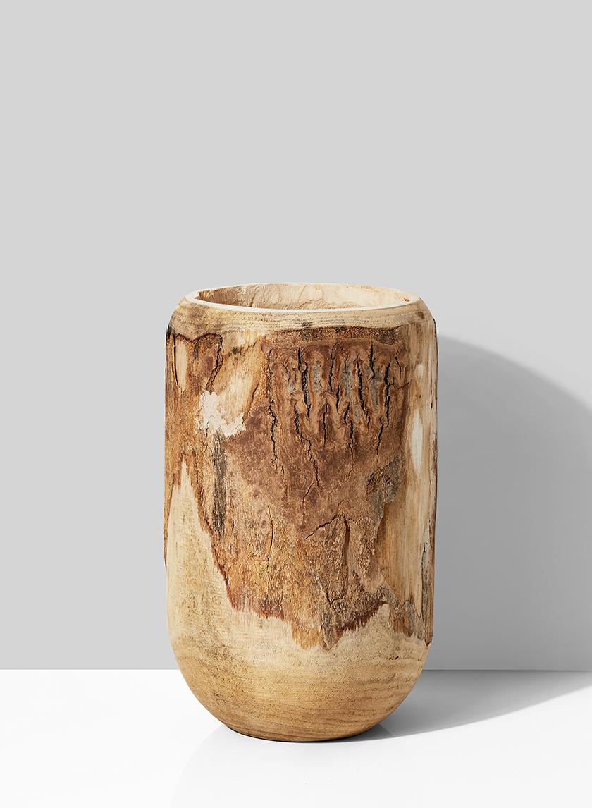 14in Wood Pot