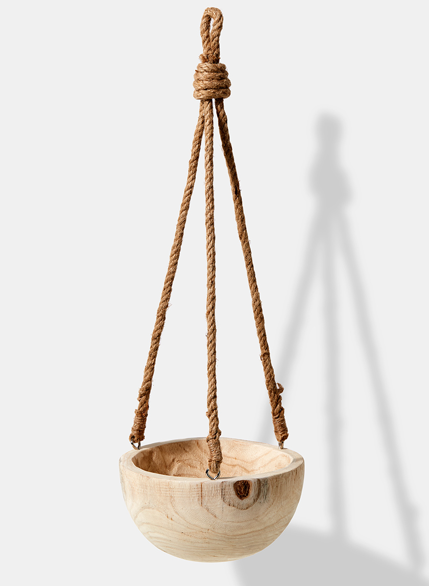 Hanging Wood Bowl