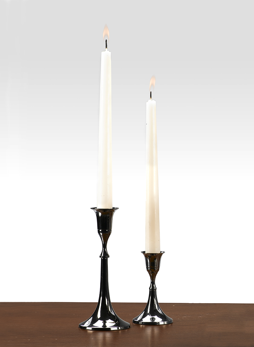 4in & 7in Blackened Bronze Candlesticks