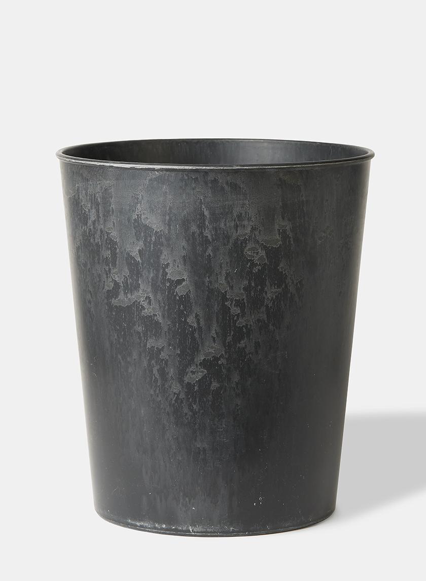 12in Aged Black Wide Mouth Flower Bucket