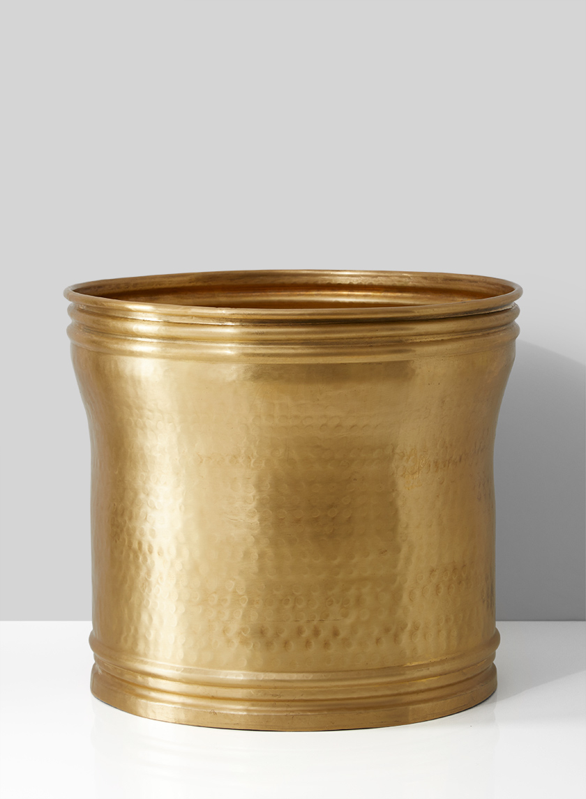 14in Antique Brass Planter