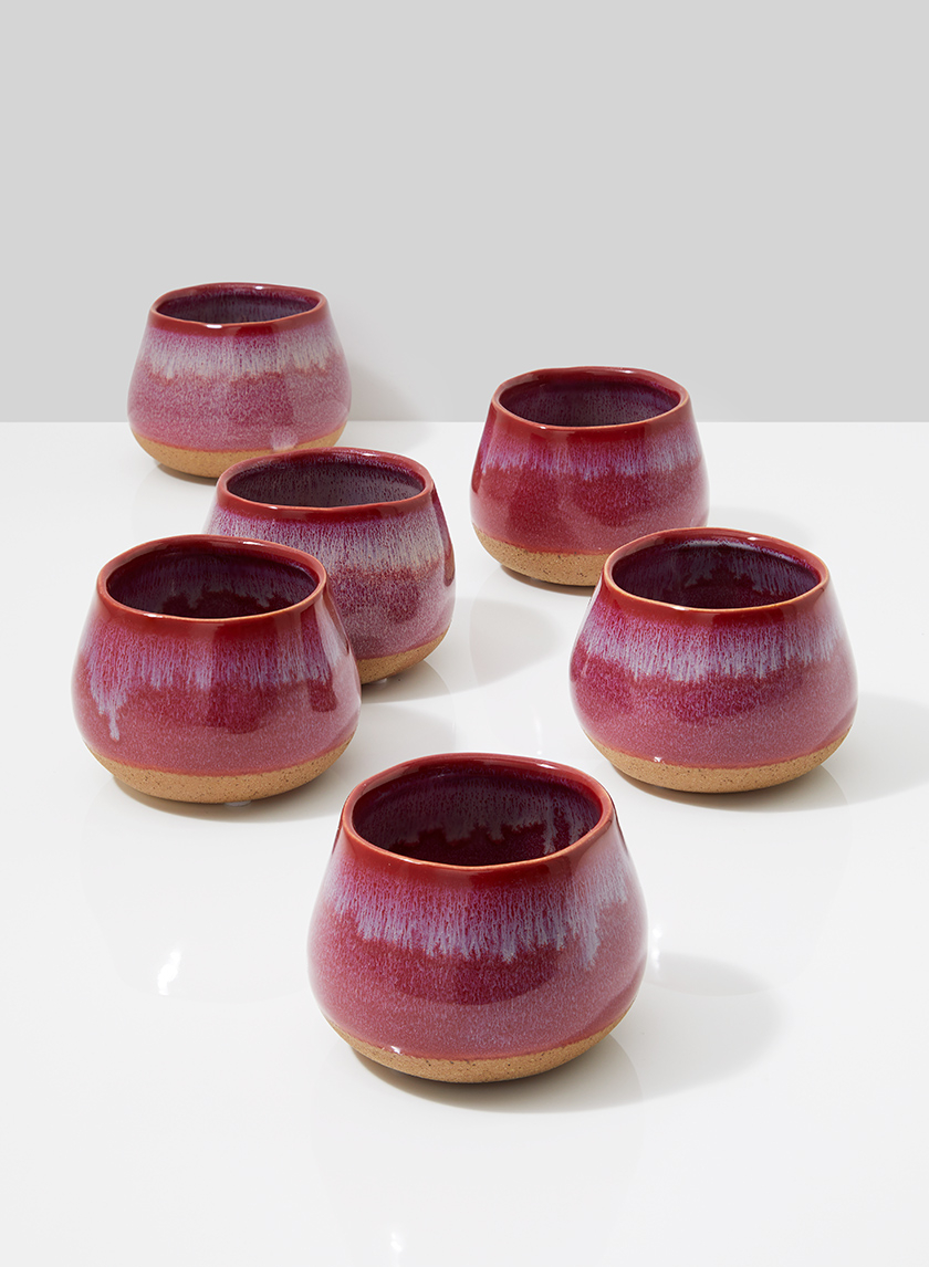Red Ceramic Potter's Vase, 4in