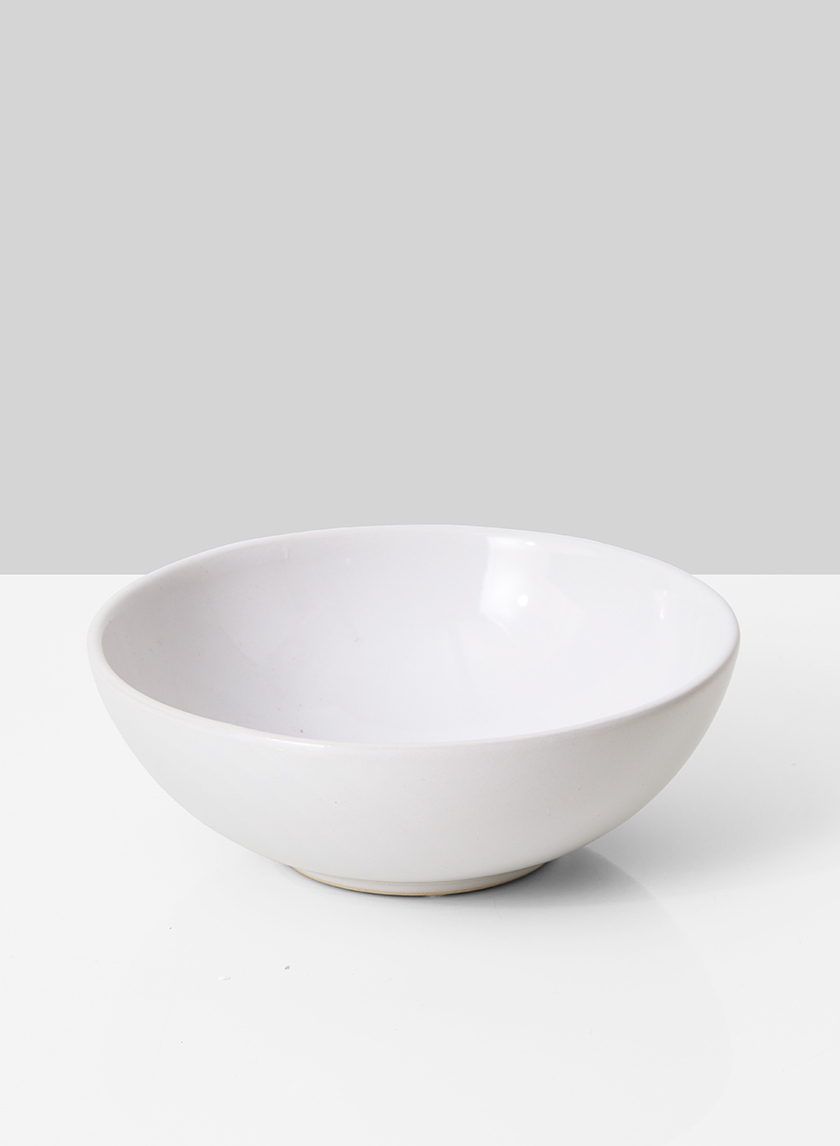 White Ceramic Bowl, 7in