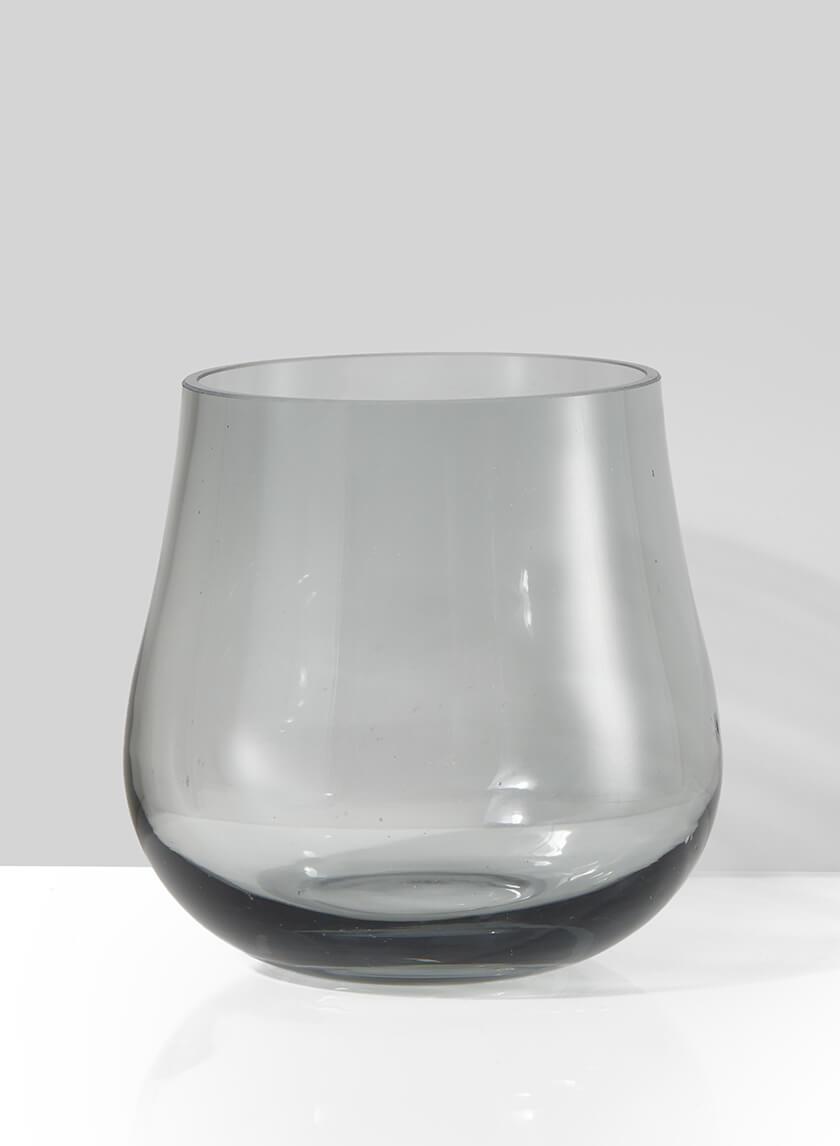 Cool Grey Glass Planter Vase