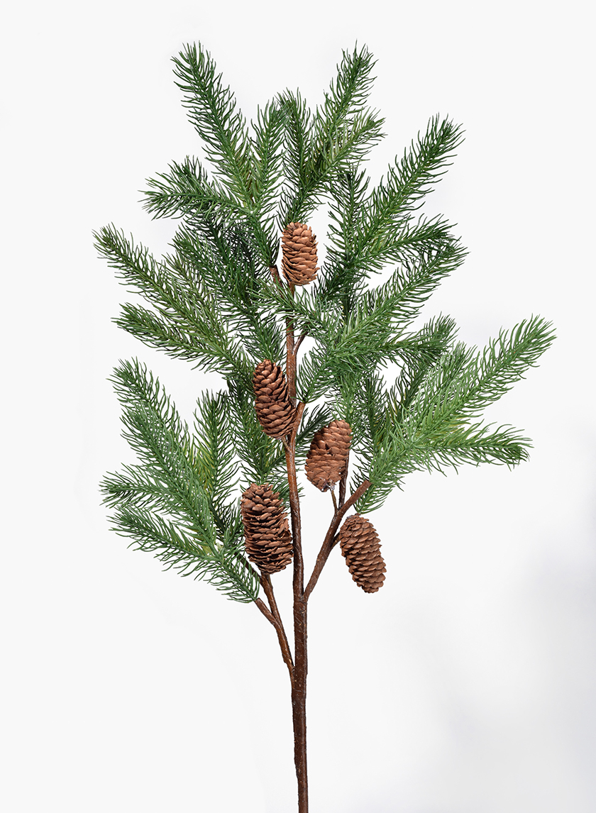 41in Pine Branch With Pine Cones