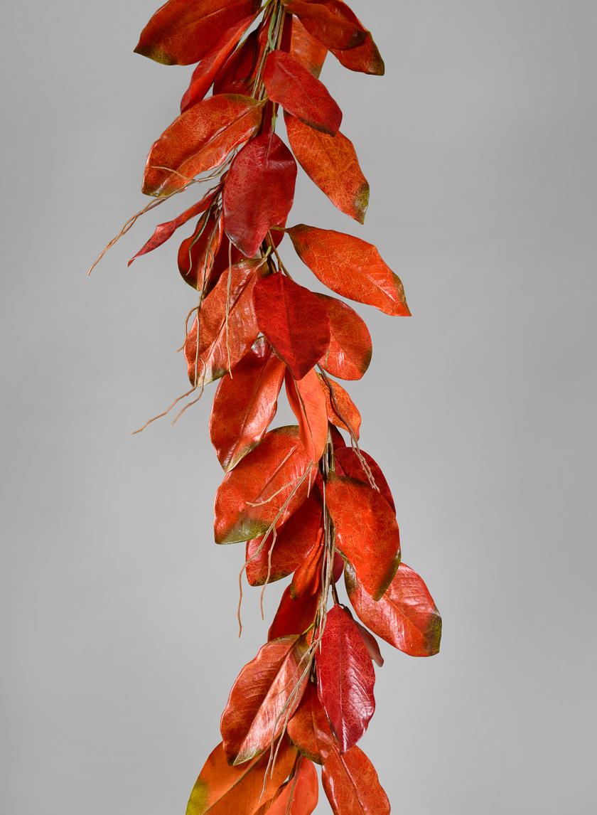 4ft Fall Magnolia Leaf Garland