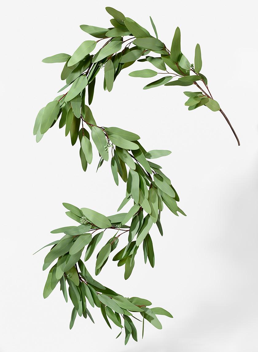 63in Seeded Eucalyptus Garland