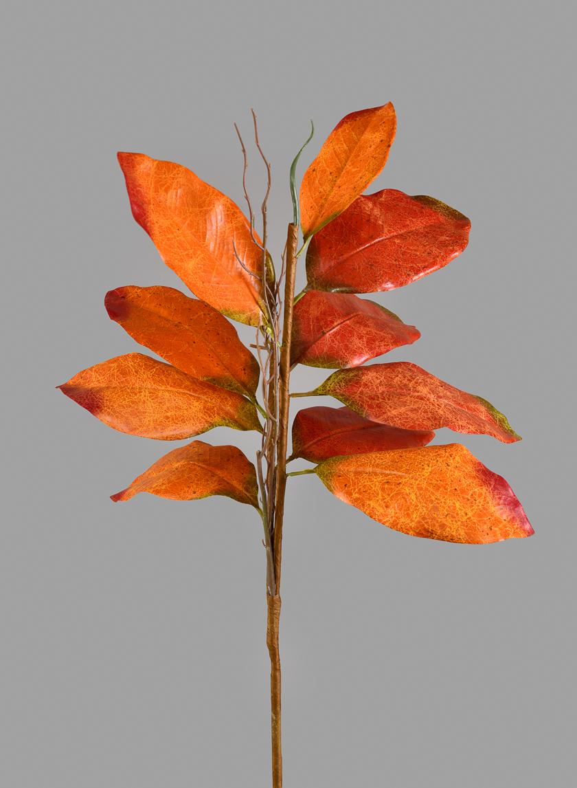 36in Fall Magnolia Leaf Spray