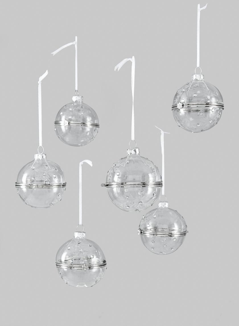 Diamond Bead Treasure Ball Ornament, Set of 6