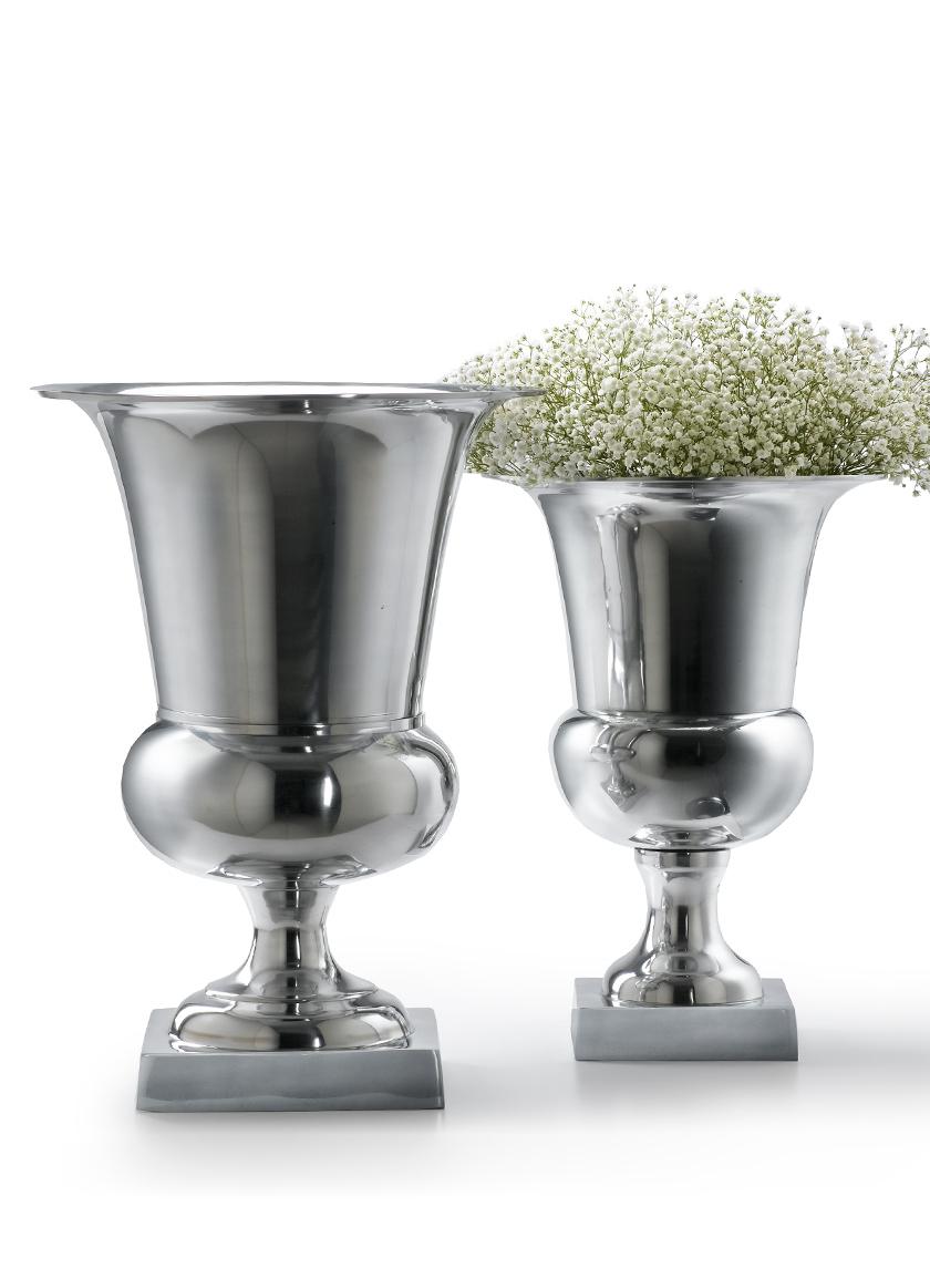 Polished Aluminum Urns