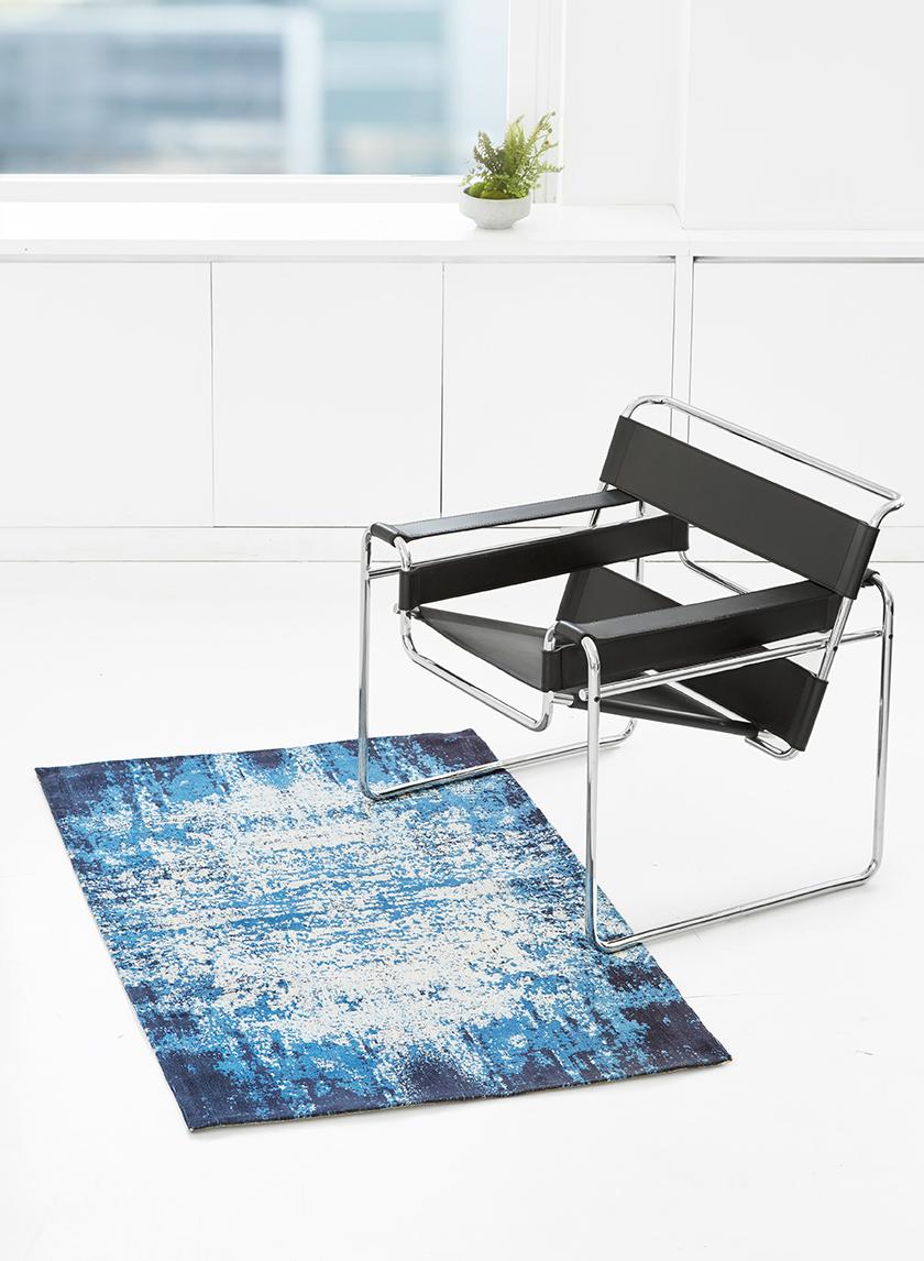 vintage look 3x5 blue living room rug