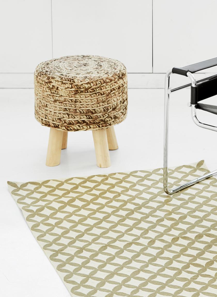 Neon Atlas Stool & Nigeen Wool Rug