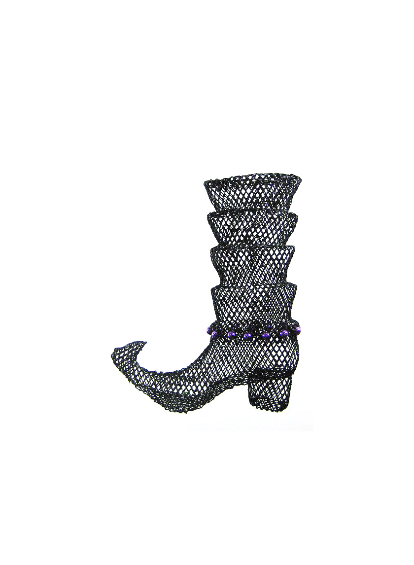 black wire witch boot halloween RJYL15951