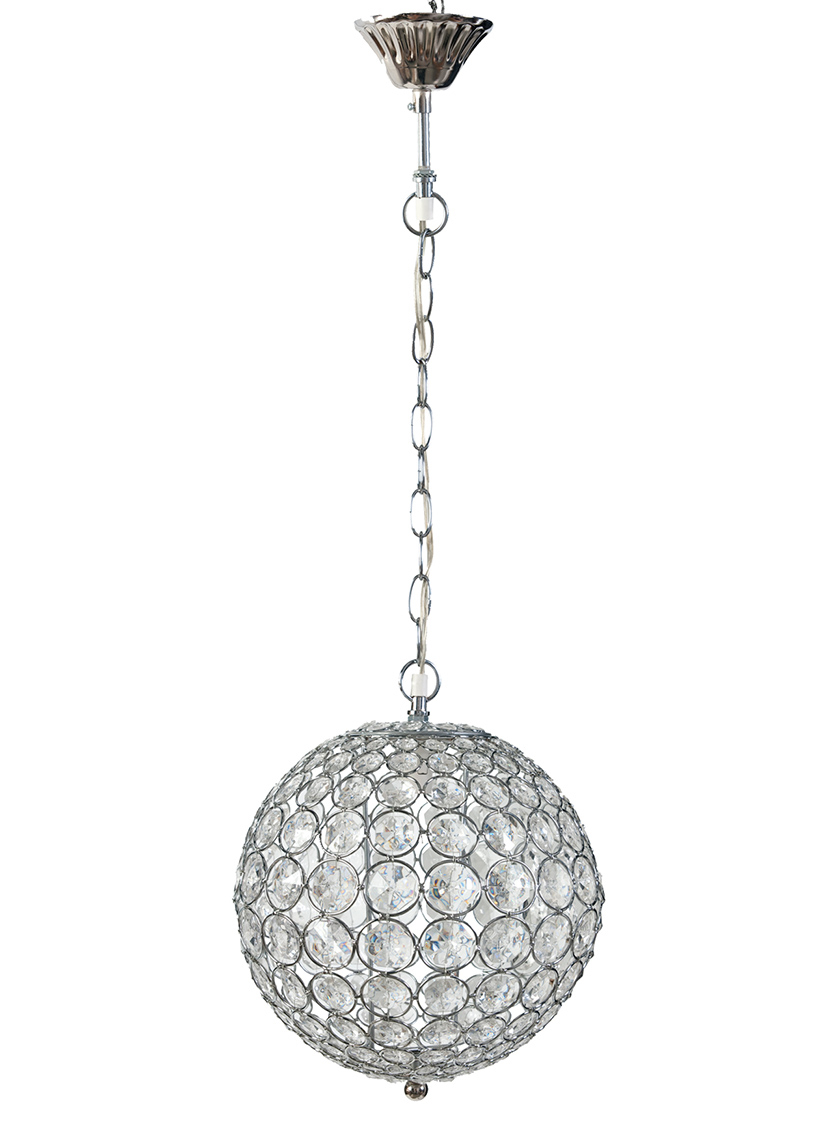 hanging crystal ball electric lamp