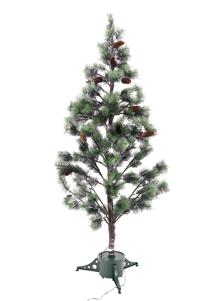 6ft Fiber Optic Pine Needle Christmas Tree