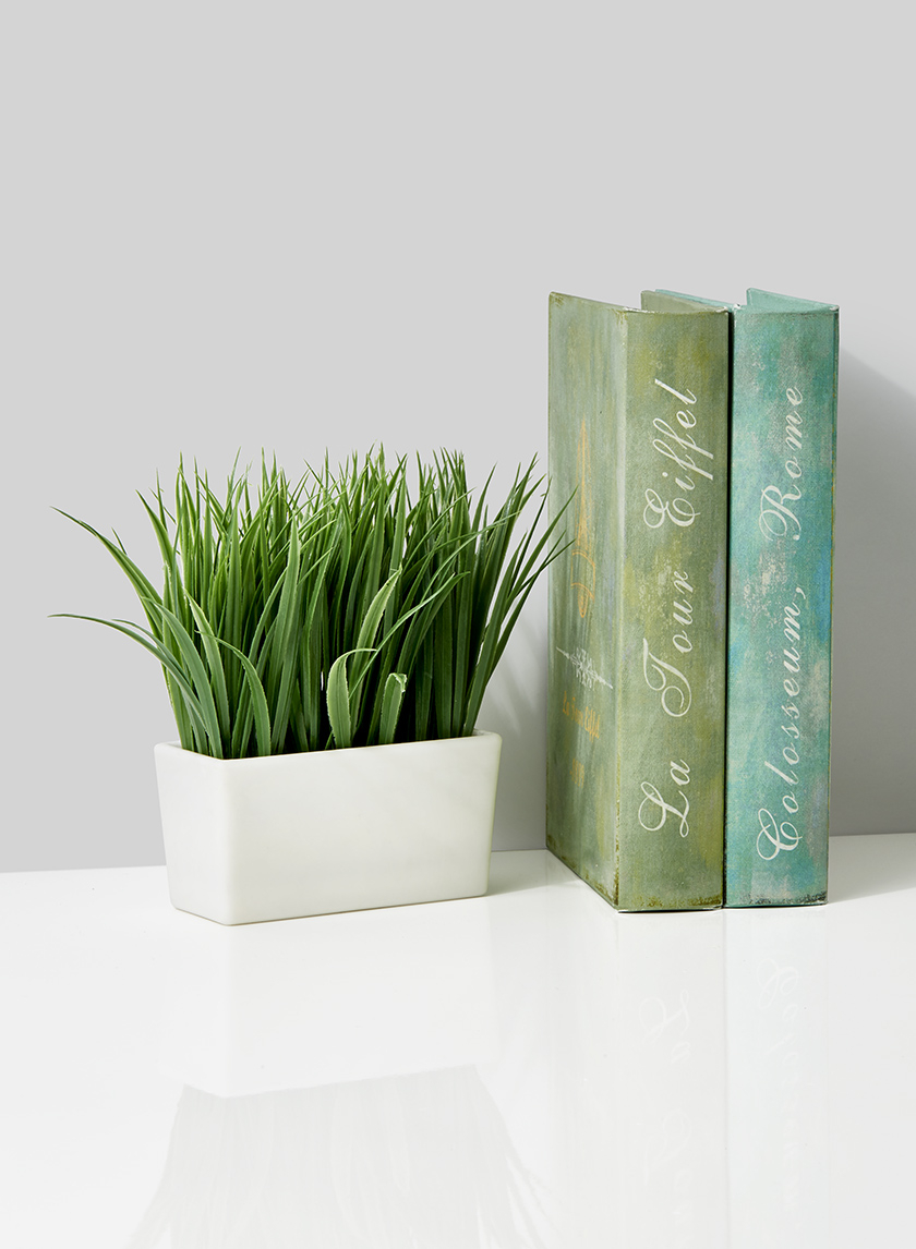 fake grass in pot display props