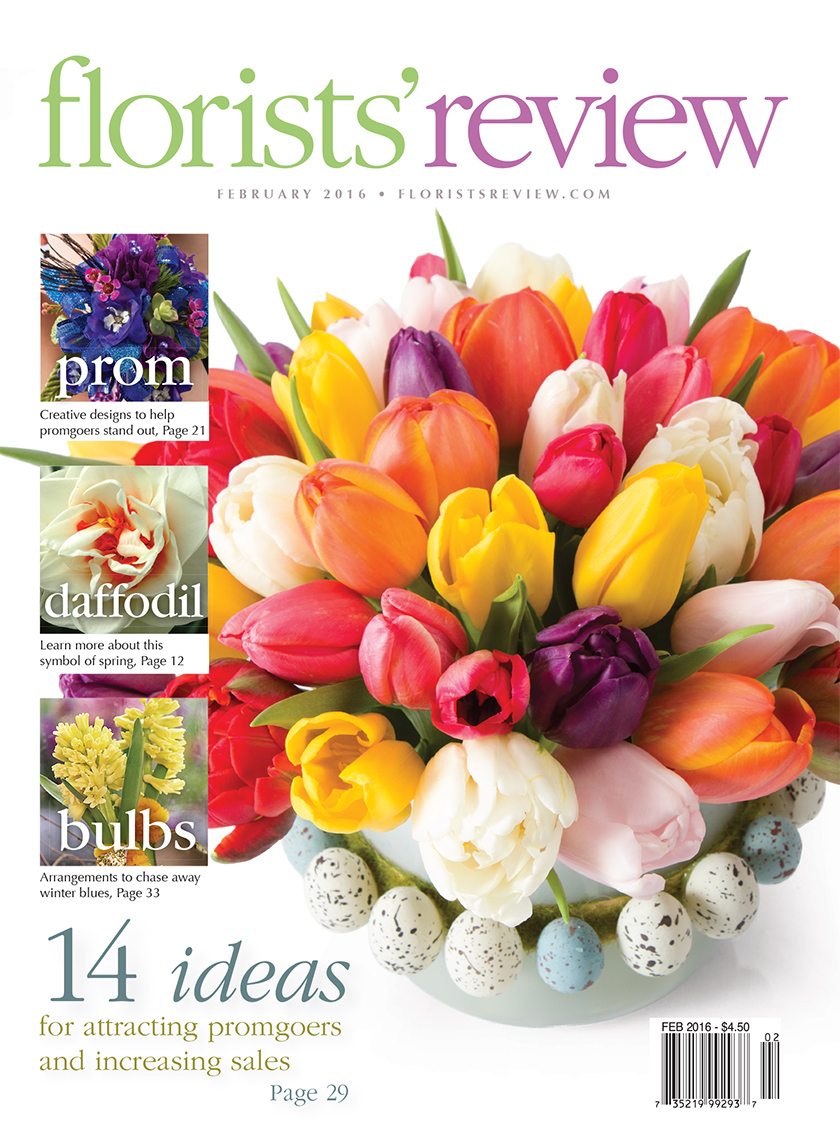 florists review february 2016 spring tulip easter floral arrangement