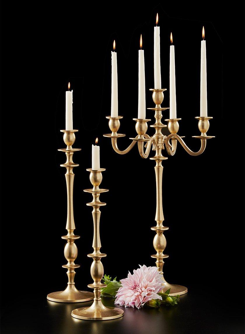 Gold Candelabra & Candlesticks