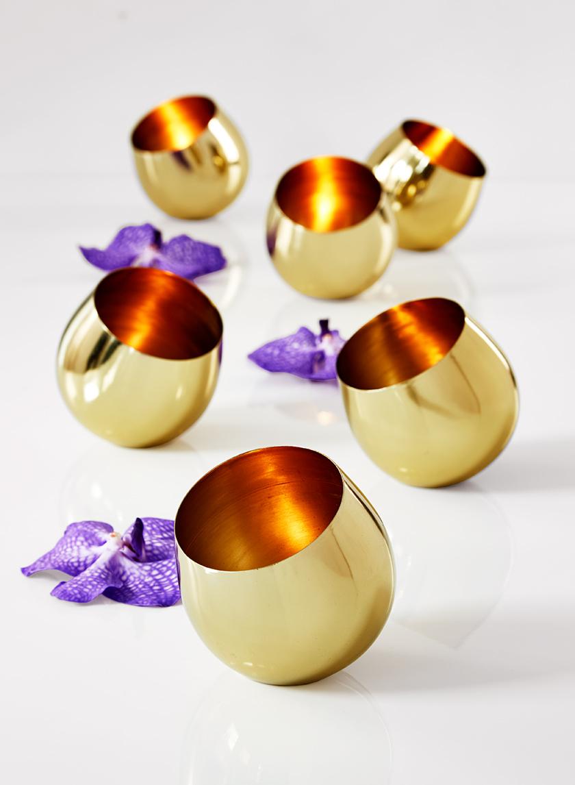 4in Gold Tea Light Holder