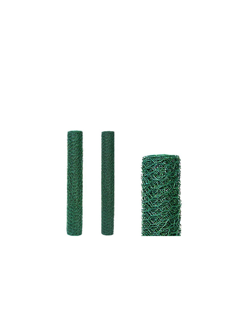 24in & 36in Green Vinyl-Coated Hex Netting