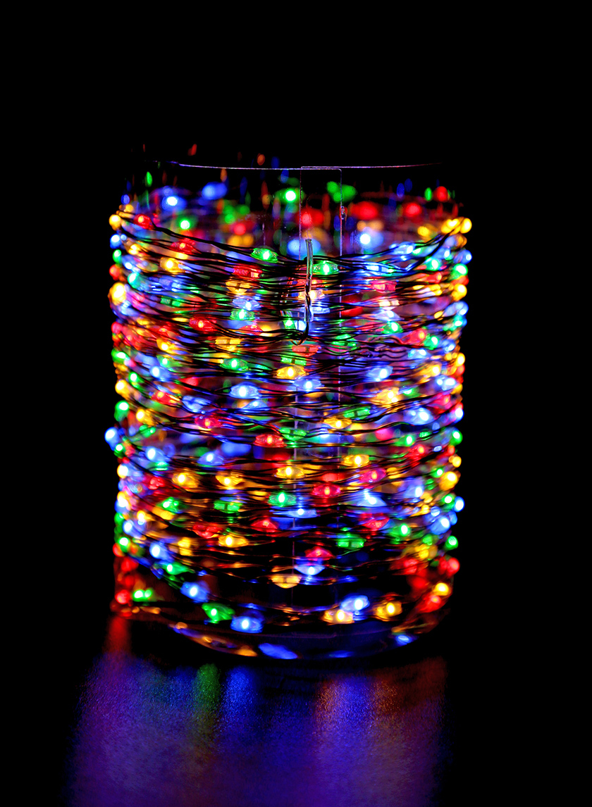 Multicolor Naked Wire L.E.D. Lights String