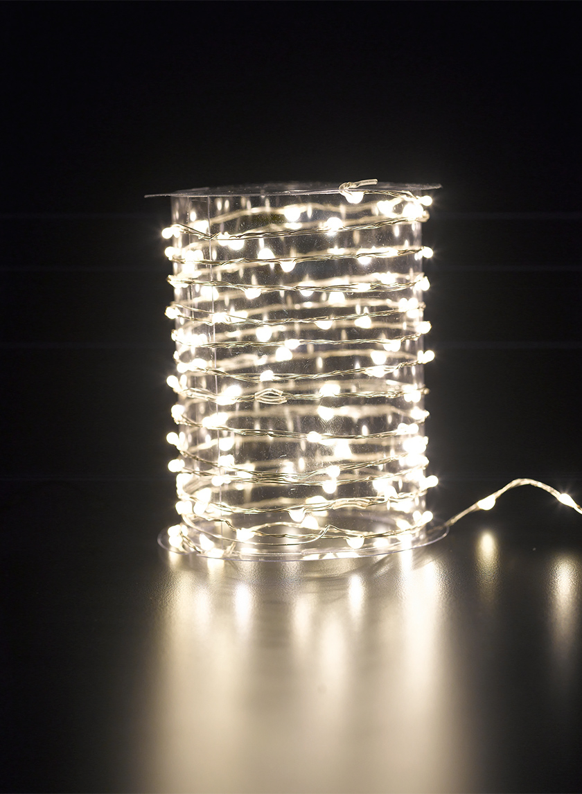 Warm White Naked Wire L.E.D. Lights String