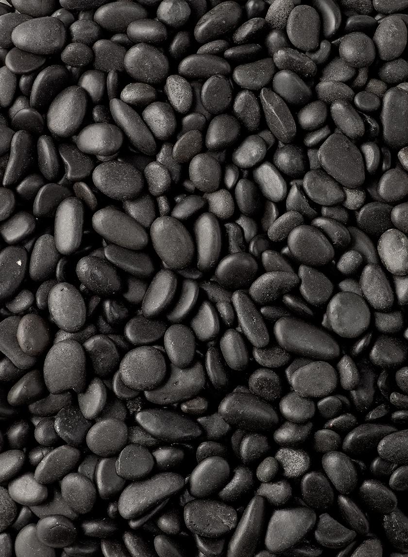 Polished Black Gravel