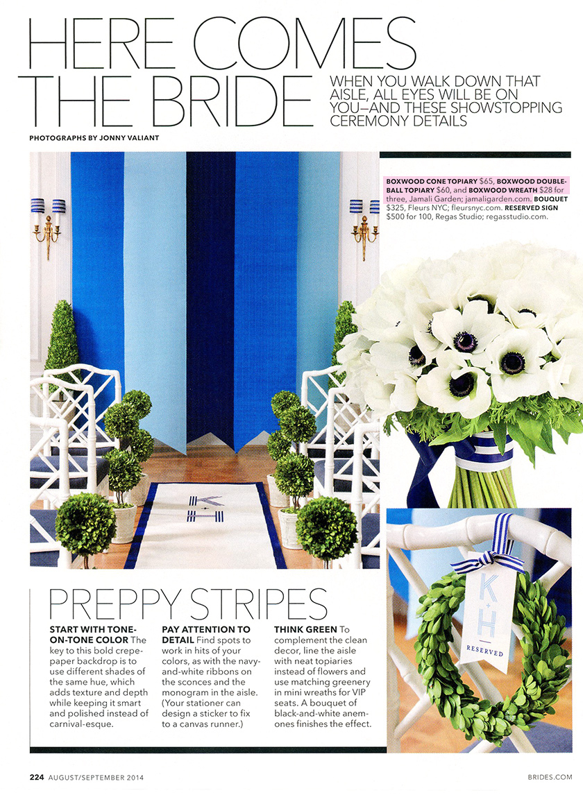 preppy-stripes-brides-boxwood-topiary