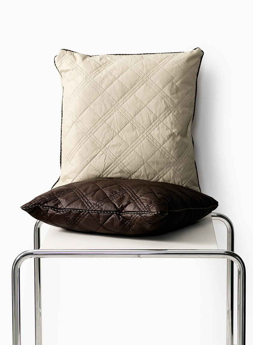 PU-Leather Quilted Pillows