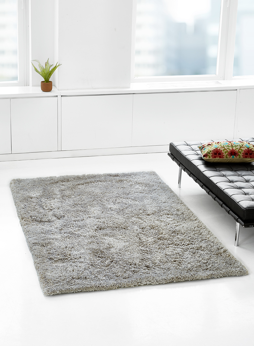 pewter grey shag rug