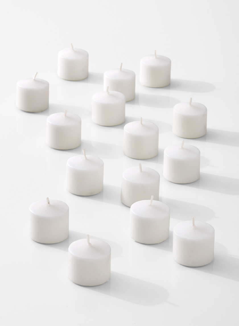 white 10-hour votive candles for parties wedding events