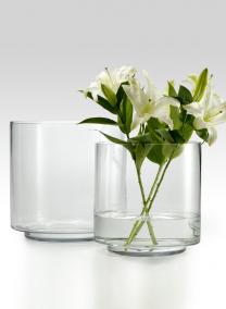 10x10in Round Glass Vase with Raised Bottom