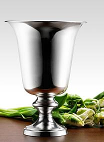 9 1/2in Silver Urn