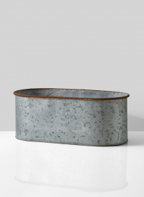 rust rim galvanized zinc oval window box