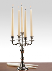 White & Ivory Taper Candles