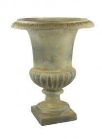 18in Yellow Wash Urn