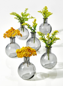 4in Smoke Ball Bud Vase, Set of 6