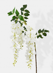 white silk flower wisteria spray