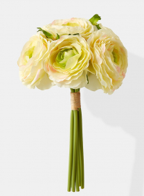 12in Cream With Green Ranunculus Bouquet 24752