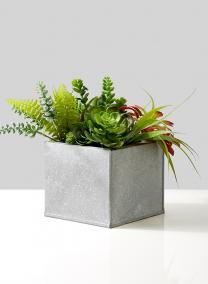 square metal pot