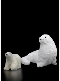 Glittered White Polar Bear