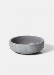 grey cement bowl floral decor