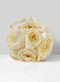 silk flower cream eternity rose pomander ball