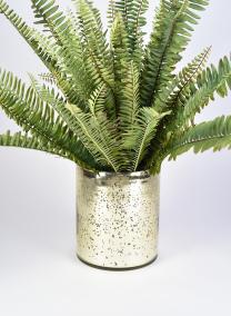 antique light gold mercury glass vase vintage wedding decor