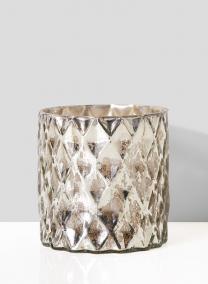 antique silver vintage look mercury glass vase