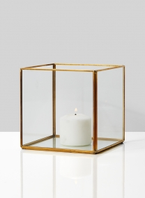 5in Gold Square Lantern