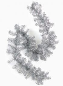 Silver Tinsel Christmas Garland